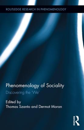 The Phenomenology of Sociality: Discovering the 'We' Book Cover